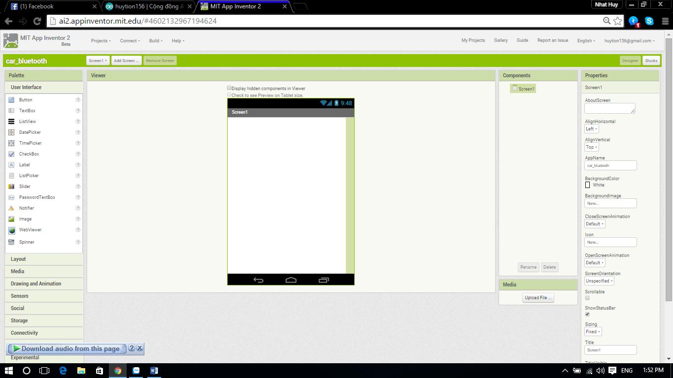 Hướng dẫn sử dụng AppInventor - Lập trình ứng dụng điều