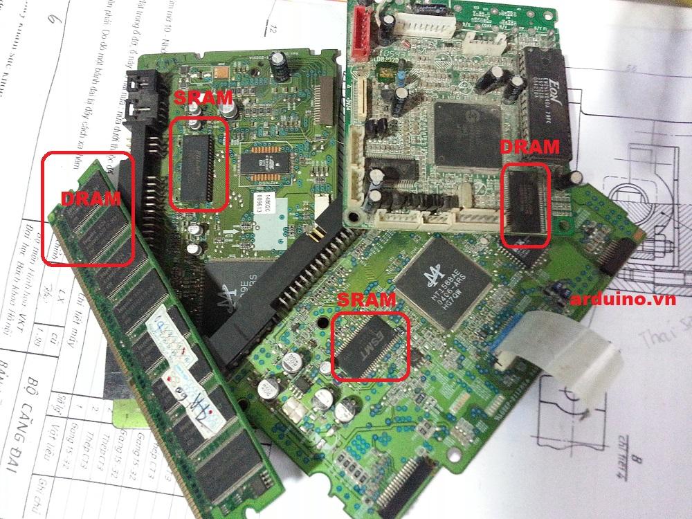 N ng cấp kbyte ram cho arduino mega với ic ut cscl