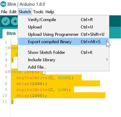Hướng dẫn nạp file binary bin cho esp cộng đồng